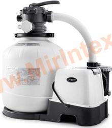INTEX Песчаный фильтр-насос 220В+хлоргенератор, 10 куб/ч